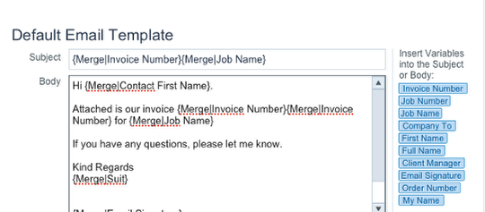 How Do I Change The Text In The Email Templates For QuotesPOs - Invoice attached email example