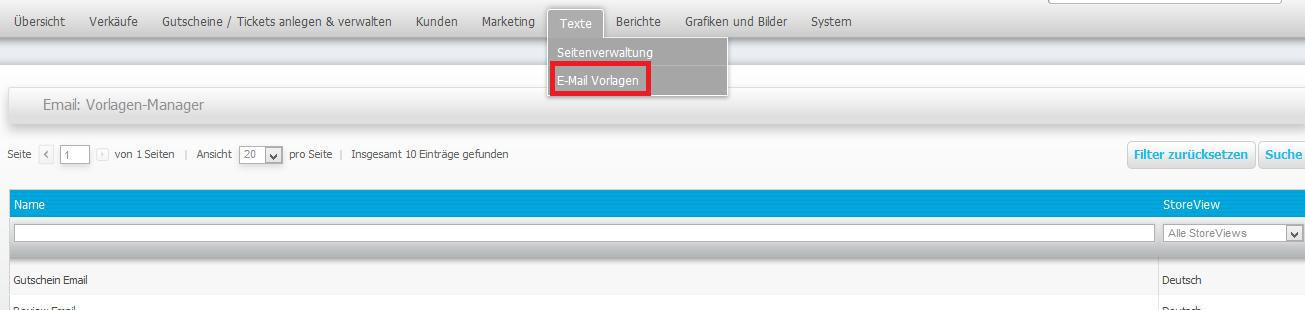Schritt 4: Textvorlagen (E-Mail, AGB, etc.) einpflegen und anpassen ...