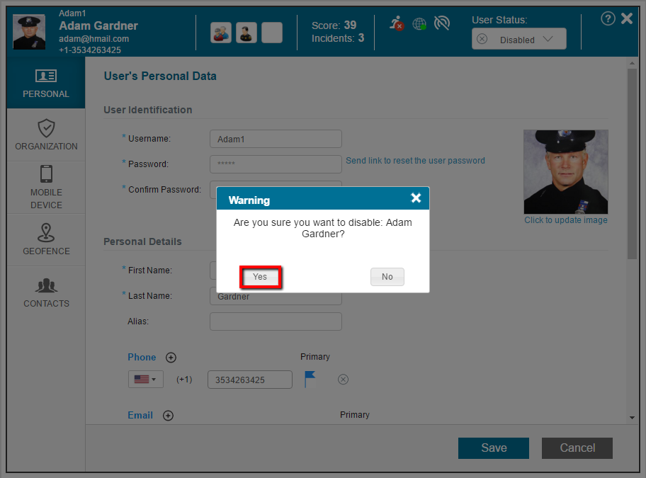 How to Disable a User | Verint Support Center
