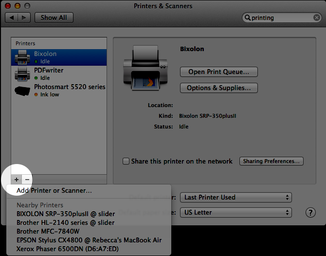 Mac OSX: Configuring and Printing Labels with a Zebra LP