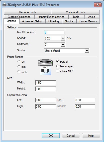 How to print Zebra thermal labels from Springboard on Windows