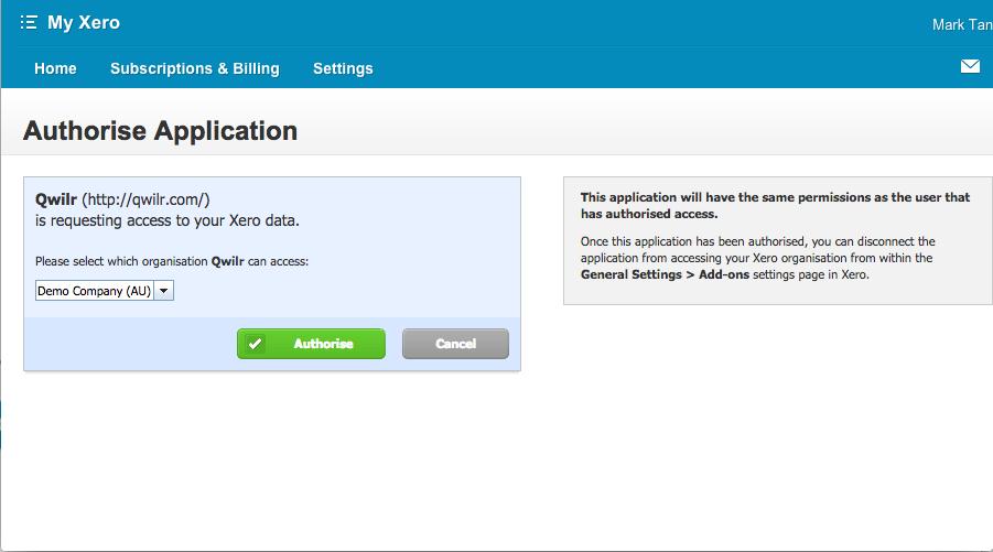Xero Qwilr Help Center - Xero invoicing add on
