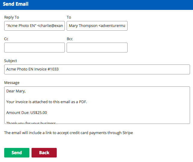 creating invoices and entering payments kashoo help center