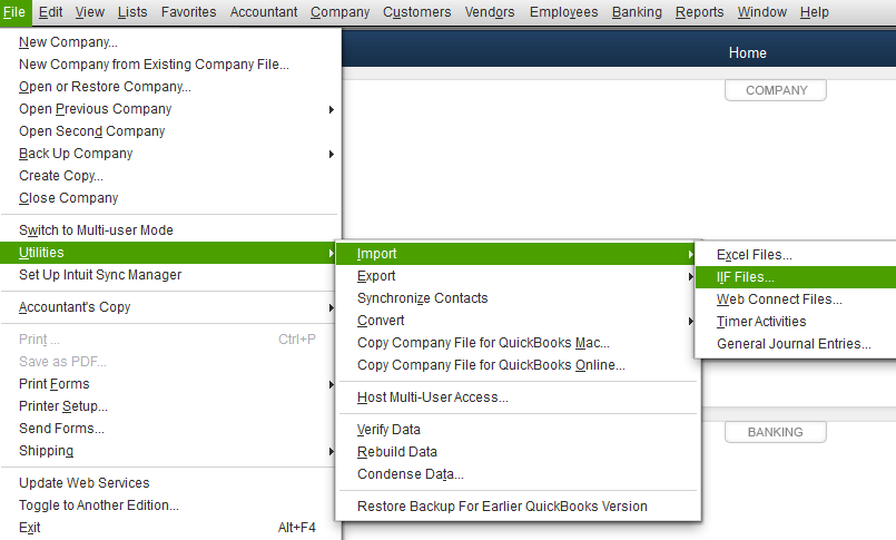 QuickBooks IIF Export Kashoo Help Center - Quickbooks iif file format