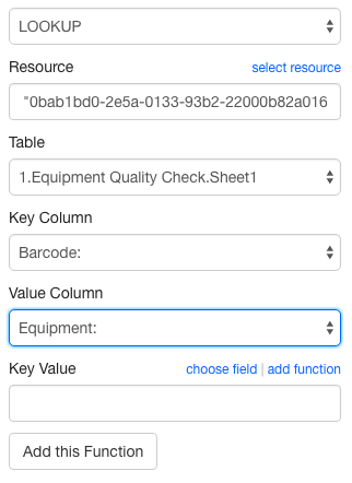 LOOKUP Function for Calculated Questions | Device Magic Help Center