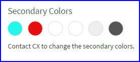 Effect Of Secondary Colour 2 On The Homepage