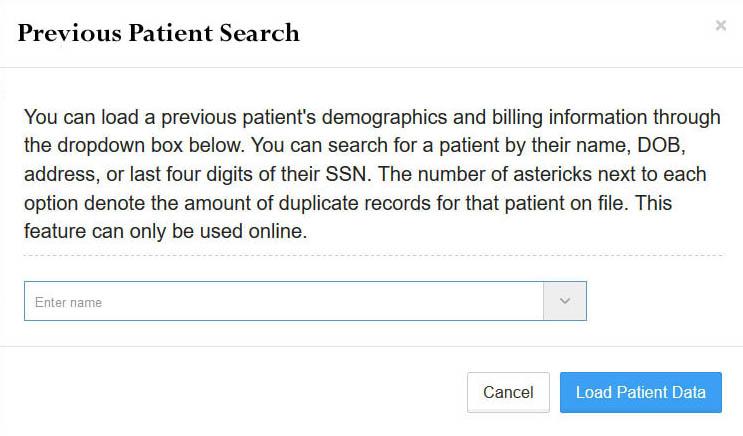 Previous Patient Lookup | Cloud PCR Help Center