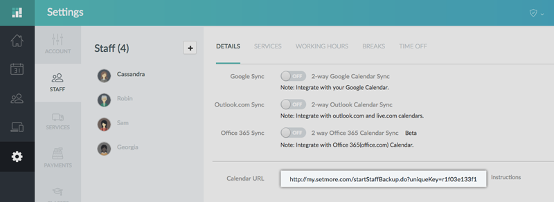 Office365 Calendar Sync (1-Way) | Support - Setmore: Free