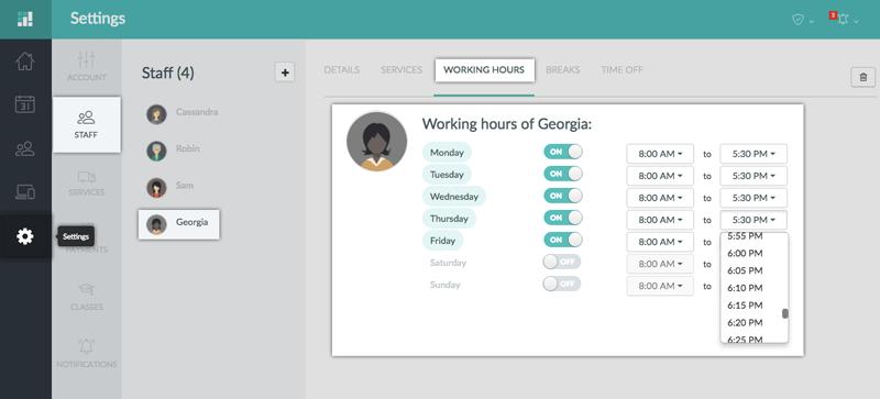 Adjusting Staff Working Hours