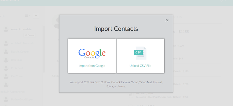 Import Customer Contacts | Support - Setmore: Free Online