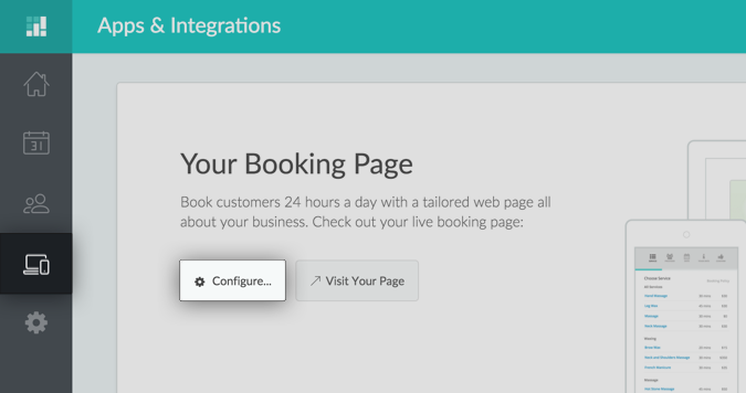 Screenshot Setmore Booking Page
