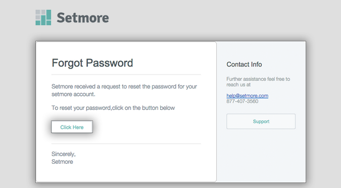 Recover or Change Your Password | Support - Setmore: Free