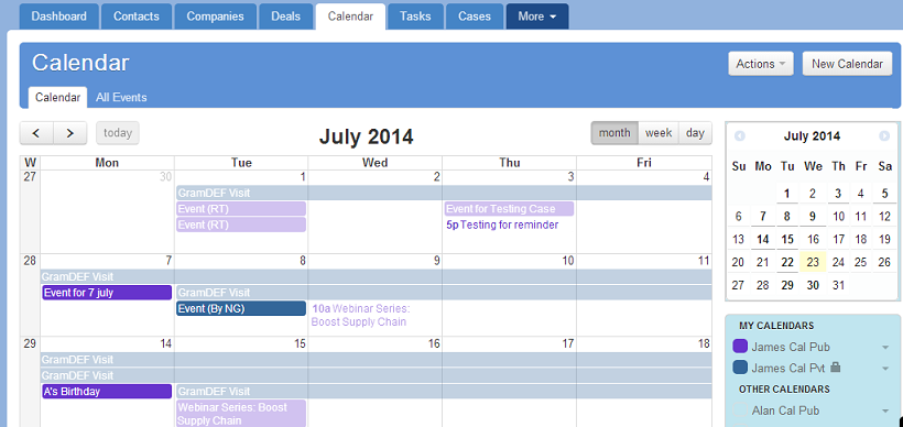 Add New Task in a Calendar View | KarmaCRM Help Center
