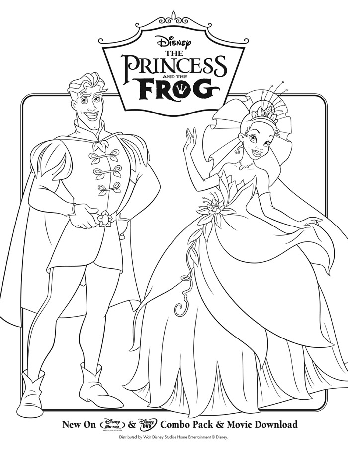 The princess and the frog activity sheets for Coloring pages princess and the frog