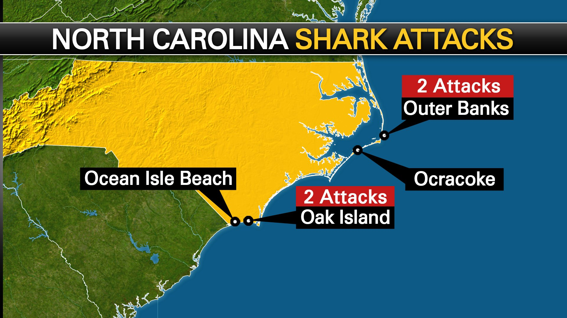 Storymapjs Mapping Shark Attacks In The Carolinas