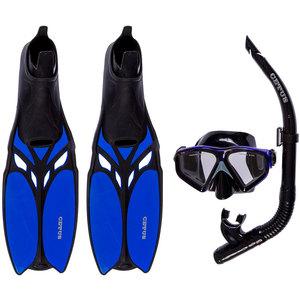 Kit de Mergulho Máscara+Respirador+Nadadeira Cetus Shark Fun