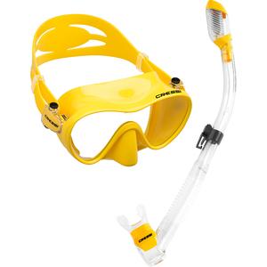 Kit de Mergulho Máscara+Respirador Cressi Frameless & Dry