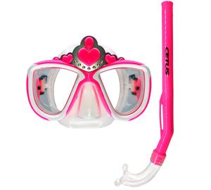 Kit de Mergulho Infantil Máscara+Respirador Cetus Princesa