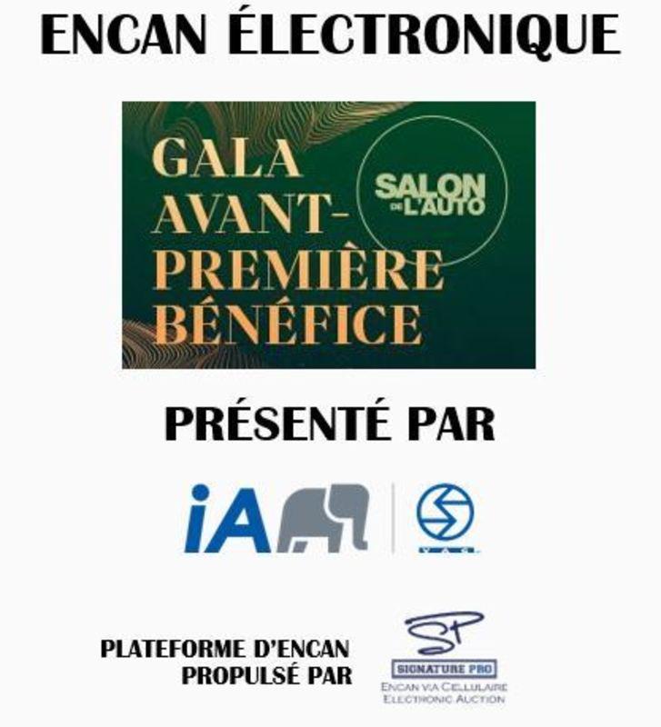 L'encan du Gala Avant-Première Bénéfice du Salon de l'Auto 2019 Image
