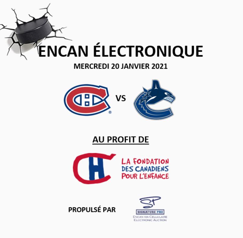 Canadiens vs Canucks Auction - January 20, 2021 Image