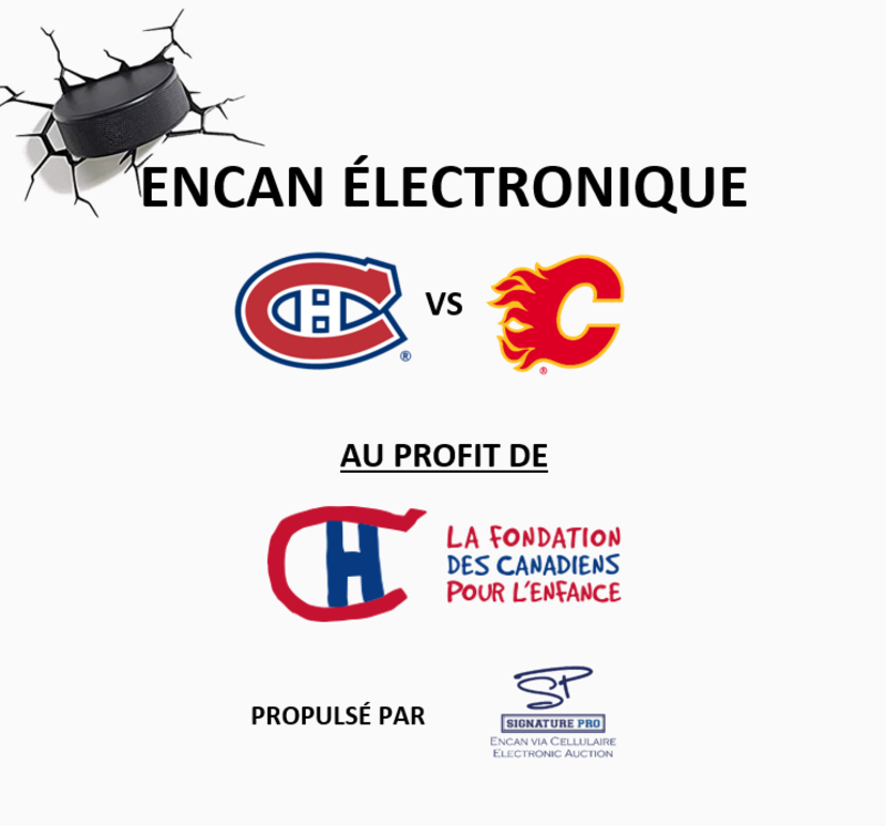 Canadiens vs Flames Auction Image