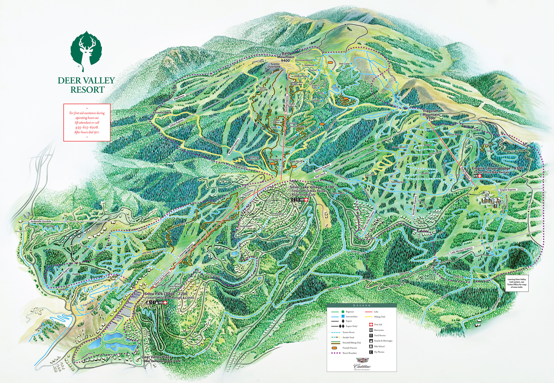 Park City Attractions - Golf, & More | Montage Deer Valley® Deer Valley Ski Trail Map on