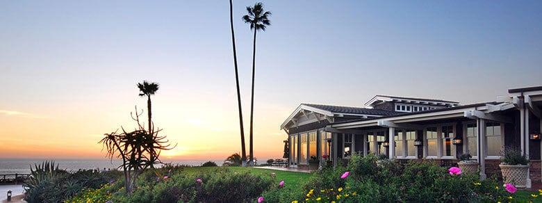 Studio Restaurant at Montage Laguna Beach of the Sun Setting over the Pacific Ocean