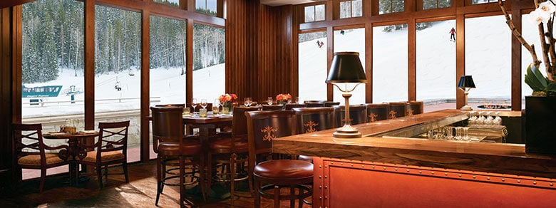A View of the Ski Slopes from Apex Restaurant in Montage Deer Valley