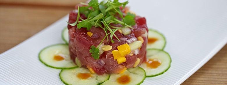 Ahi Tuna Carpaccio at Apex Fine Dining Restaurant in Deer Valley