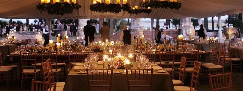 Montage Palmetto Bluff Candle Lit Wedding Reception Under Outdoor Tent