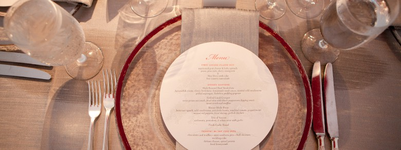 Wedding Plate Setting at Montage Palmetto Bluff