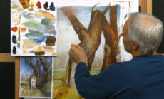 Developing a Composition for Painting: Refinement and Finishing Touches