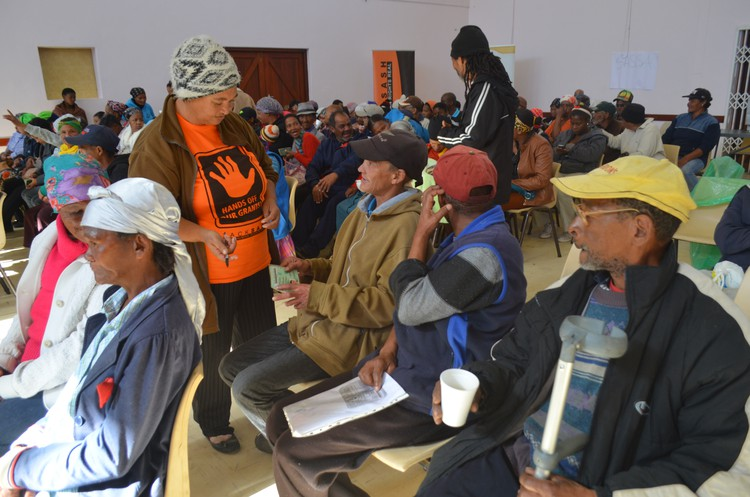 Grant beneficiaries raised problems with their green cards at a meeting in Ceres in July organised by the Black Sash