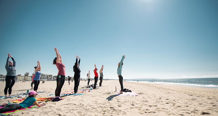 Santa Monica Beach Yoga Workouts