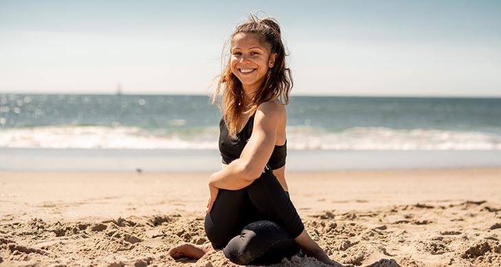 Santa Monica Beach Yoga Workout Vee Lopez