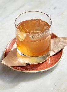 Whiskey drink the Fairmont Miramar in Santa Monica, California