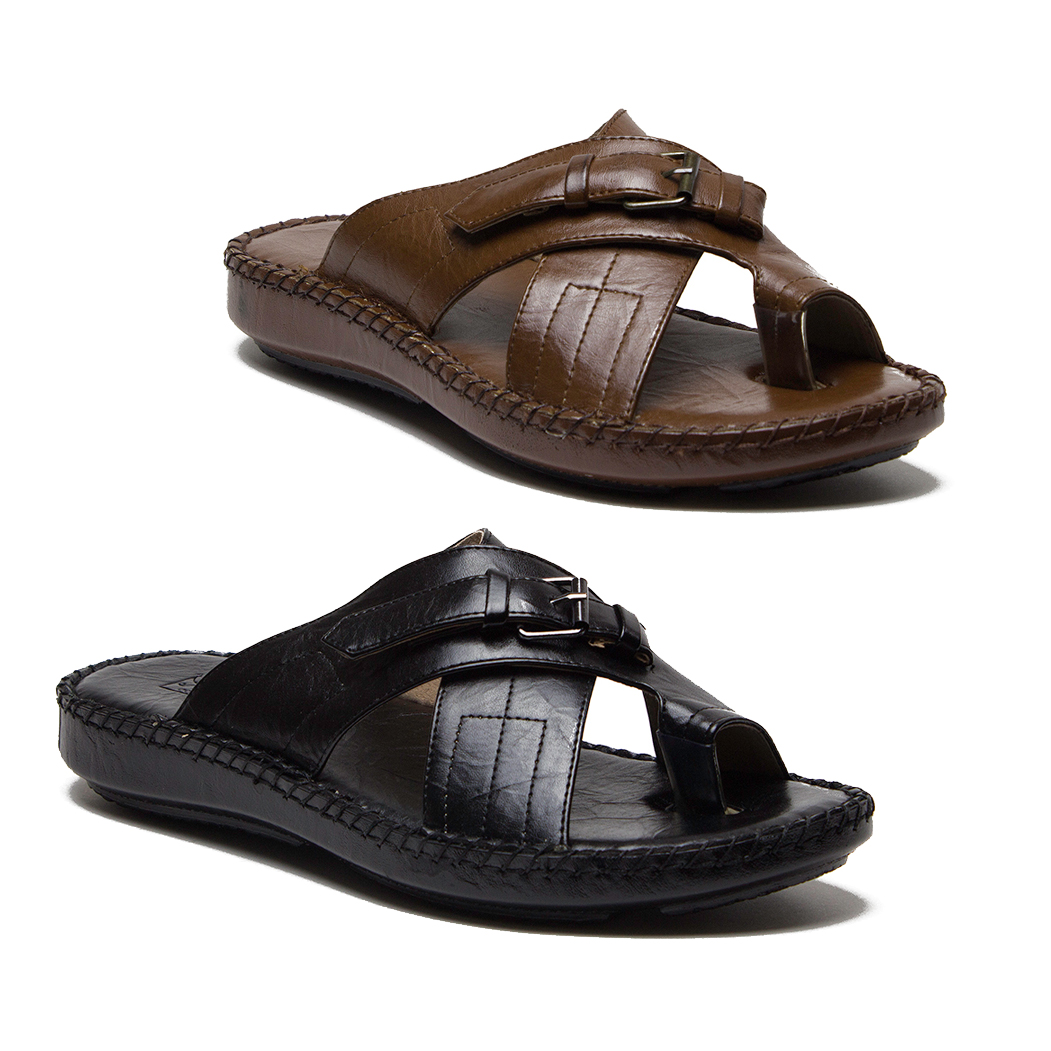 8422616c5 Details about Men s 71203 Open Peasant Toe Loop Strappy Slip On Summer  Sandals Shoes Slides
