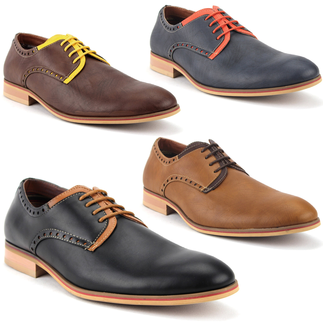 Mens Two Tone Slip On Dress Shoes