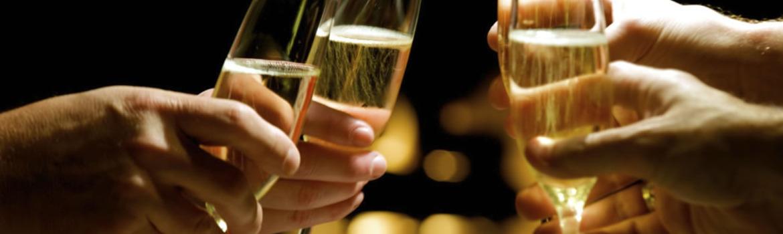 Header champagne brinde