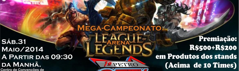 Header anuncio campeonato petrogeek de lol