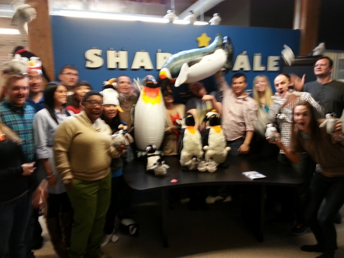 The ShareASale Team celebrating World Penguin Day
