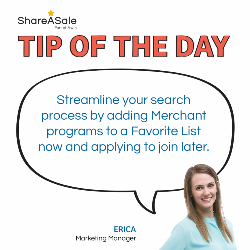 Tip of the Day: Favorite Merchants Now, Join Later