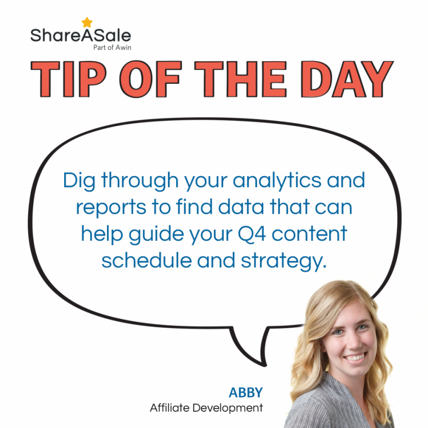 TOTD: Dig through your analytics to create a Q4 strategy