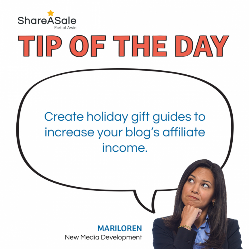 TOTD: Create GIft Guides to increase your blog's affiliate income
