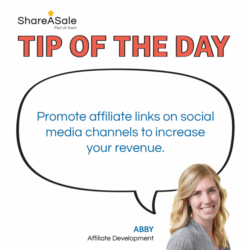 TOTD: Promote affiliate links on your social media channels