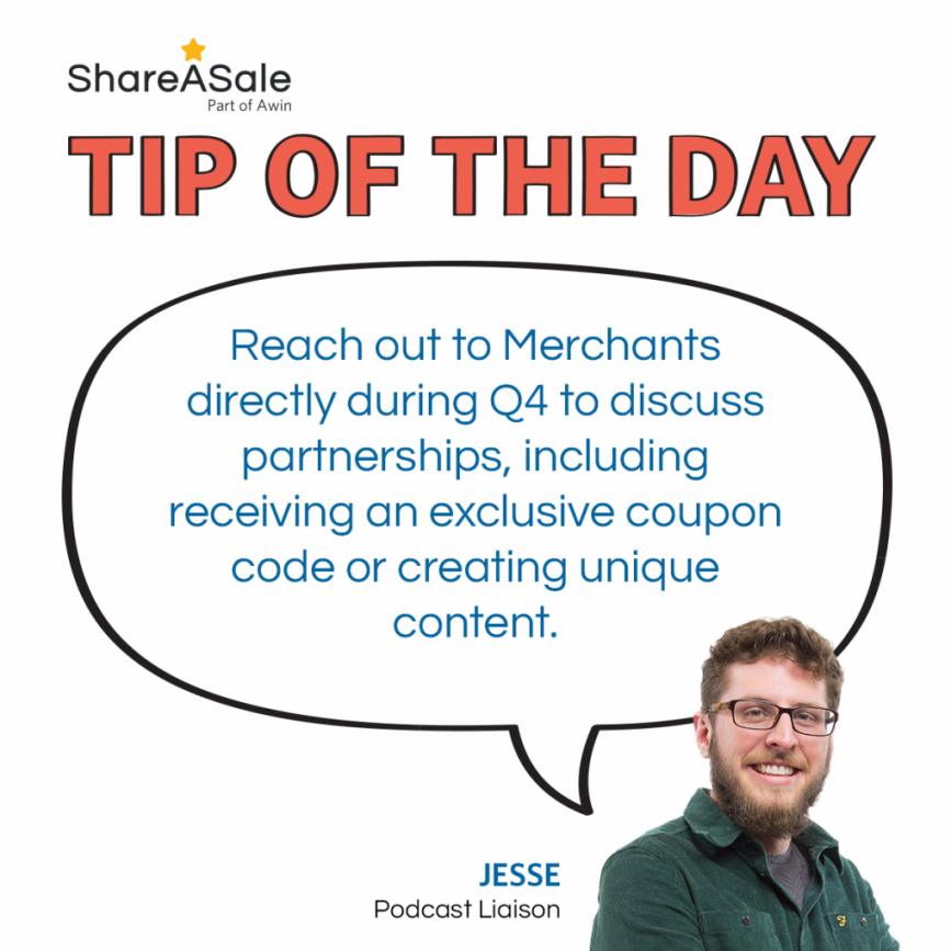 TOTD: Reach out to Merchants directly during Q4