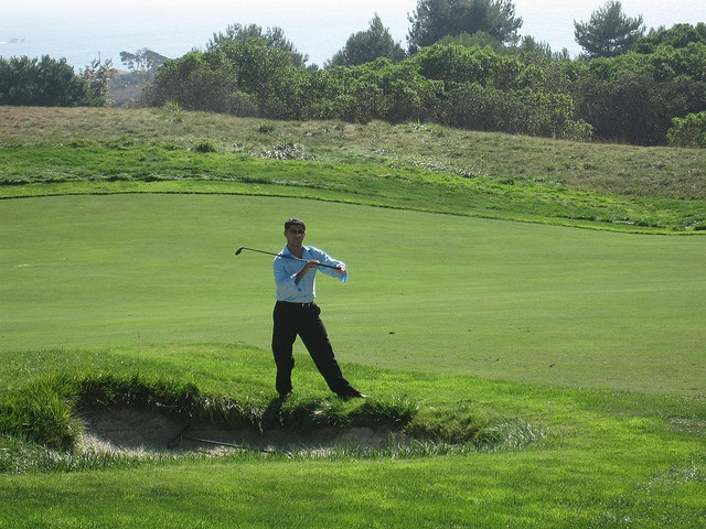 Asif, showing us all how to (not) golf!