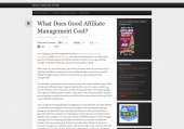 Best Explaination of What Good Affiliate Management Costs