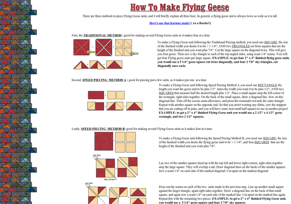 Quilter's Cache - How to Make Flying Geese