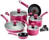 T-fal C729SE Excite Nonstick Thermo-Spot Dishwasher Safe Oven Safe PFOA Free Cookware Set, 14-Piece, Pink: Kitchen & Dining